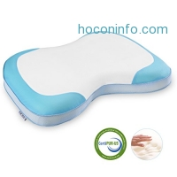 ihocon: LANGRIA Curved Memory Foam Bed Pillow With Removable Cover記憶棉枕頭