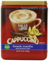 ihocon: Hills Bros Cappuccino Decaf French Vanilla, 16 Ounce