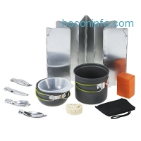 ihocon: TOMSHOO Outdoor Cookware Camping Pan Pot with Mini Camping Stove 野炊用具整套,含爐子