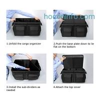 ihocon: MIU COLOR Foldable Trunk Organizer with Cover and Car Cooler可折疊收納有蓋汽車收納箱送保温袋