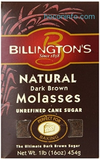ihocon: Billington's Natural Dark Brown Molasses Sugar, 16-Ounce Bags (Pack of 10)天然黑糖