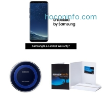 ihocon: Samsung Galaxy S8 US Factory Unlocked Phone + Special Edition Qi Certified Fast Charge Wireless Charger + $100 Amazon Gift Card