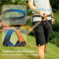 ihocon: F-color Reflective Hands Free Dog Leash w/ Adjustable Waist Belt免牽狗繩