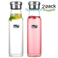 ihocon: MIU COLOR Glass Water Bottle, 24.5oz/ 18oz