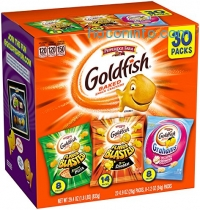 ihocon: Pepperidge Farm Goldfish Variety Pack Bold Mix, (Box of 30 bags)