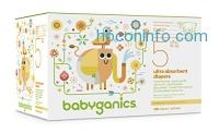 ihocon: Babyganics Ultra Absorbent Diapers Economy Pack, Size 5, 136 Count