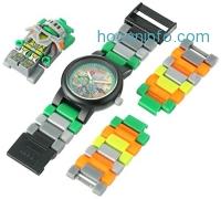ihocon: LEGO Nexo Knights Aaron Kids Minifigure Link Buildable Watch 樂高積木兒童錶