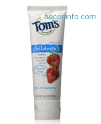 ihocon: Tom's of Maine Natural Fluoride Free Children's Toothpaste, Silly Strawberry, 4.2 Ounce, 3 Count