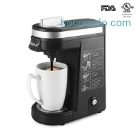 ihocon: CHULUX Single Serve Coffee Maker Brewer for K Cups with 12 Ounce Water Tank膠囊咖啡機