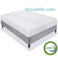 ihocon: BestChoiceproducts 10 Dual Layered Memory Foam Mattress Queen- CertiPUR-US Certified Foam雙層記憶棉床墊