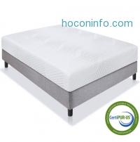 ihocon: BestChoiceproducts 10 Dual Layered Memory Foam Mattress Queen- CertiPUR-US Certified Foam雙層記憶棉床墊