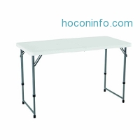 ihocon: Lifetime 可攜式可調高度折疊桌 Adjustable Folding Utility Table, 48 by 24 Inches