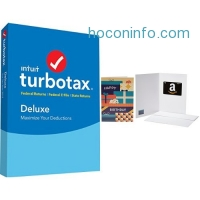 ihocon: TurboTax Deluxe 2017 Tax Software Federal & State + Fed Efile PC/MAC Disc  and $10 value Amazon.com Gift Card in a Greeting Card