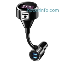 ihocon: Mpow Bluetooth 4.2 FM Transmitter藍芽接收器/汽車免持聽筒