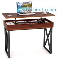 ihocon: [站/坐均可] Tribesigns Lift Top Computer Desk 電腦桌