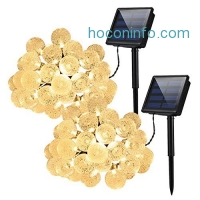 ihocon: Cymas 2 Pack Globe Solar String Lights太陽能球形裝飾燈