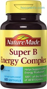 ihocon: Nature Made Super B Complex Full Strength Softgel, 60 Count (Packaging may vary)