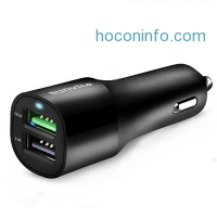 ihocon: Sunvito Dual USB Car Charger with Quick Charge 3.0 and 2.4A USB Port汽車手機快速充電器