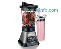 ihocon: Hamilton Beach Wave Crusher Blender with 40 oz Jar & 20 oz Single Serve Blend-in Travel Jar (58161)