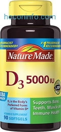 ihocon: Nature Made Vitamin D3 5000 IU Ultra Strength Softgels 90 Ct