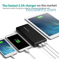 ihocon: RAVPower 26800mAh 三充電行動電源 Total 5.5A Output 3-USB Ports Power Banks