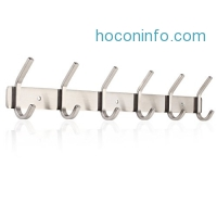 ihocon: Homfa Wall Mounted Stainless Steel Hook Rack不銹鋼衣帽架