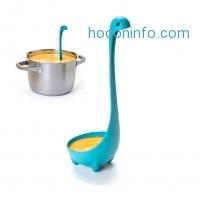 ihocon: Windaze Nessie Soup Ladle, Set of 2 Spoons (Blue & Chartreuse Yellow)尼斯湖水怪湯杓