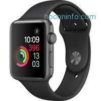ihocon: Apple Watch Series 2 42mm Smartwatch (Space Gray Aluminum Case, Black Sport Band)