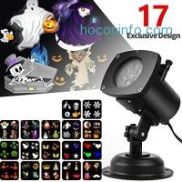 ihocon: Christmas LED Projector Lights,17 Slides Waterproof 防水投影燈