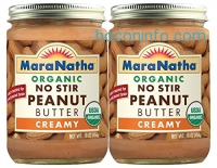 ihocon: MaraNatha Organic No Stir Creamy Peanut Butter (Pack of 2)