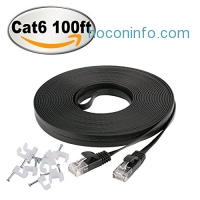 ihocon: Jadaol Cat 6 Flat Ethernet Cable 100 ft