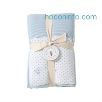 ihocon: Burt's Bees Baby Reversible Quilt, 100% Organic and 100% Polyester Fill (Sky)雙面有機嬰兒被