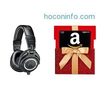 ihocon: Audio-Technica ATH-M50x Professional Monitor Headphones with $30 Amazon.com Gift Card