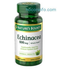 ihocon: Nature's Bounty Echinacea 400 mg Natural, 100 Capsules