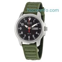 ihocon: Citizen Men's BM8180-03E Eco-Drive Canvas Strap Watch光動能男錶