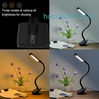 ihocon: Desk Lamp ANNT 10W Dimmable 3 Modes and 5 Level of Brightness Eyecare LED Table light with USB 夾式光線微調護眼桌燈