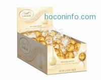 ihocon: Lindt LINDOR White Chocolate Truffles, Gluten Free & Kosher, 60 Count Box