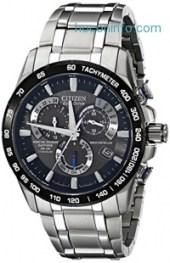 ihocon: Citizen光動能鈦金男錶Eco-Drive Men's AT4010-50E Titanium Perpetual Chrono A-T Watch