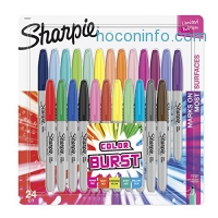 ihocon: Sharpie Color Burst Permanent Markers, Fine Point, Assorted Colors, 24-Count
