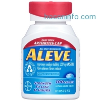 ihocon: Aleve Easy Open Arthritis Cap Caplets with Naproxen Sodium, 220mg (NSAID) Pain Reliever/Fever Reducer, 100 Count止痛退燒劑