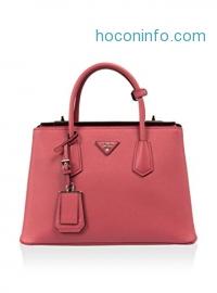 ihocon: Prada Women's BN2823 2A4A F060M Saffiano Leather Tote, Pink, Medium