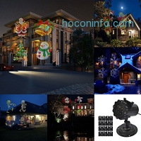 ihocon: DAXGD Projector Lamp Light 16 Colorful Patterns Replaceable Slides聖誕投影燈