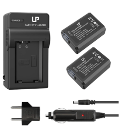 NP-FW50 Battery Charger Pack, LP 2-Pack Battery & Charger