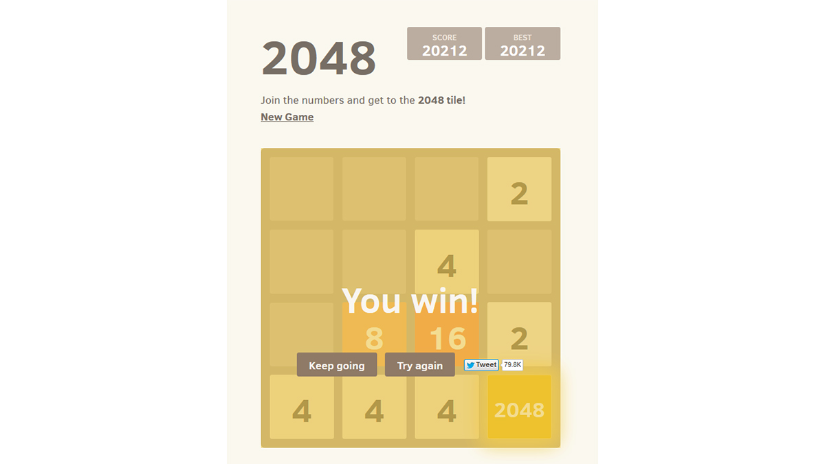 2048 Original: The best Number Game