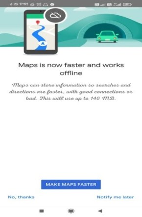 google map faster experience