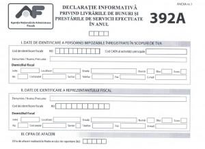 Depunerea declaraţiilor 392A şi 392B