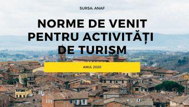 NORME DE VENITACTIVITĂȚI Din turism 2020