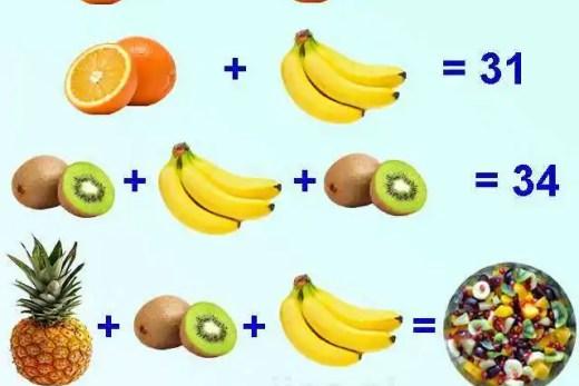Zagadka - sałatka owocowa. Czy znasz wynik?
