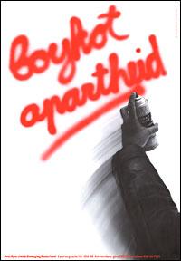 Boykot apartheid, poster Anti-Apartheids Beweging Nederland 1981