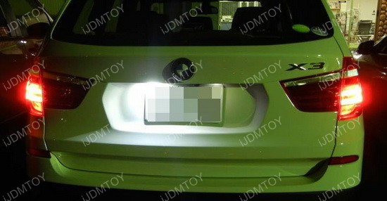BMW LED License Plate Lamps 01
